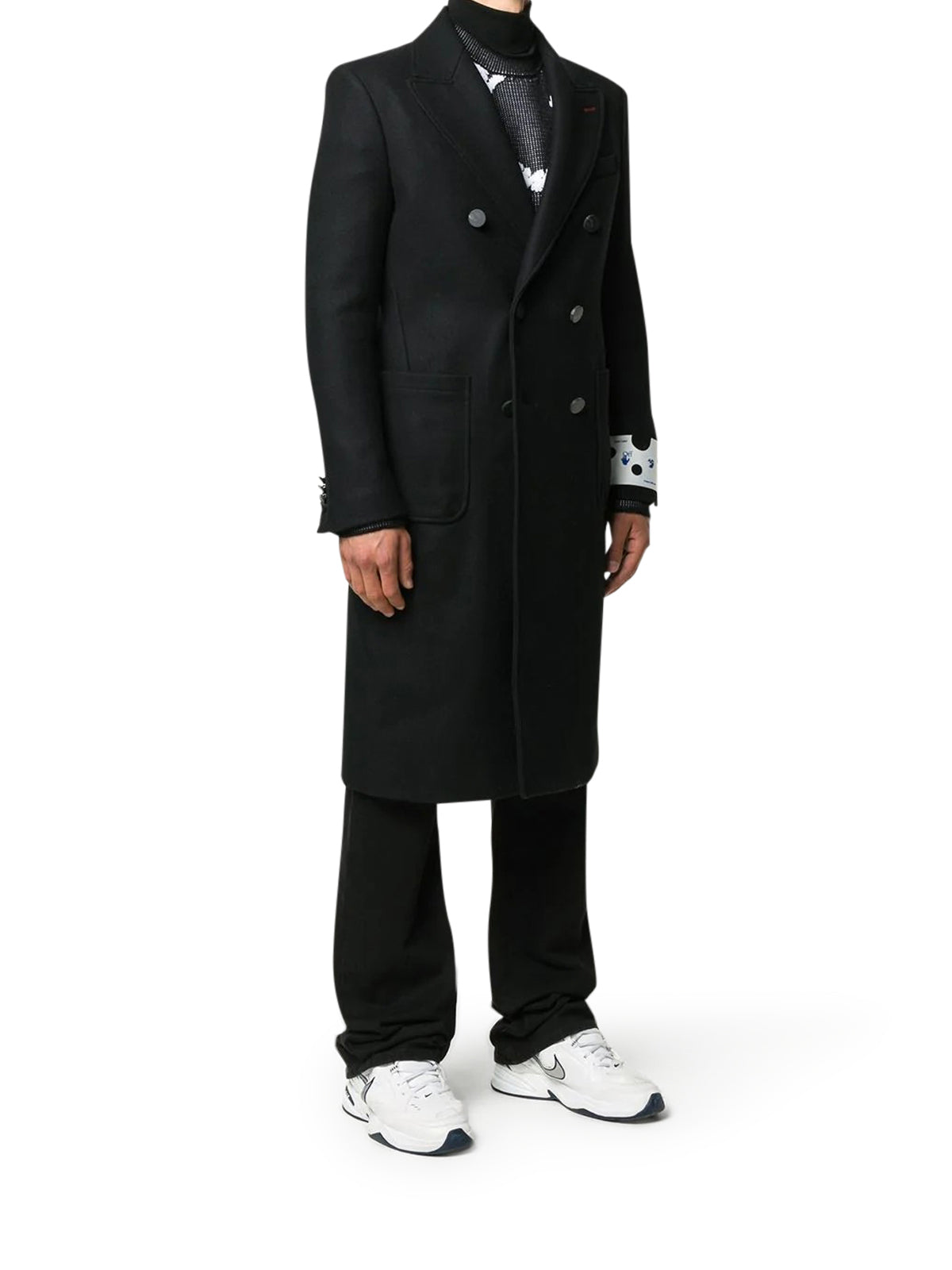 long coat with logo