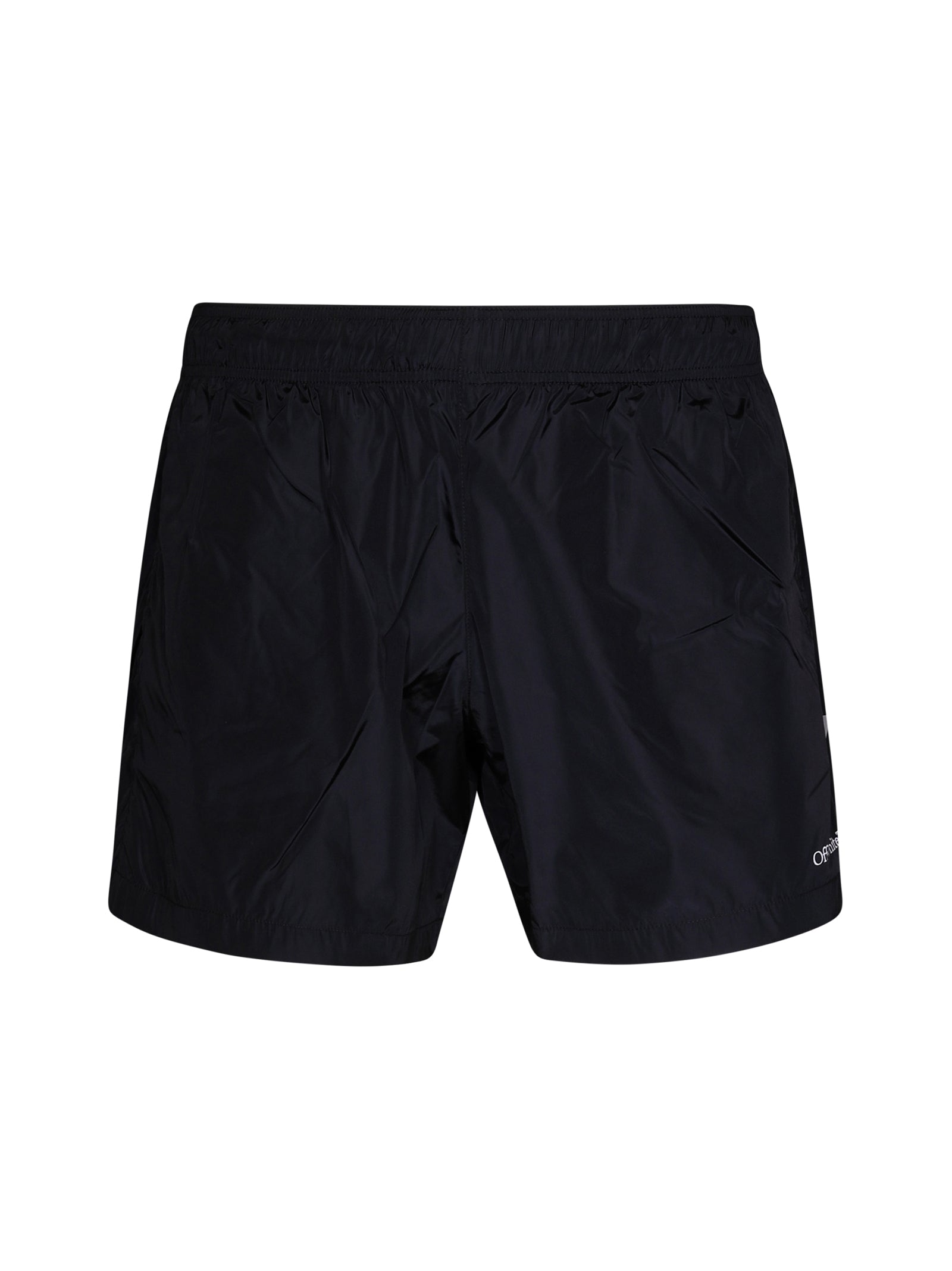 logo print swim shorts