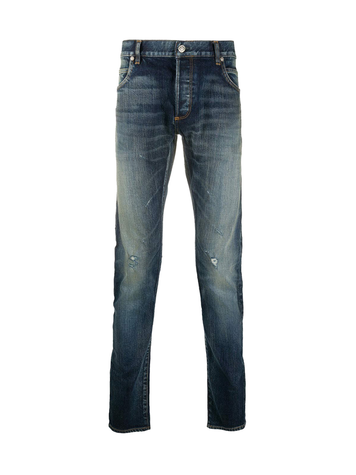 Slim jeans with used effect