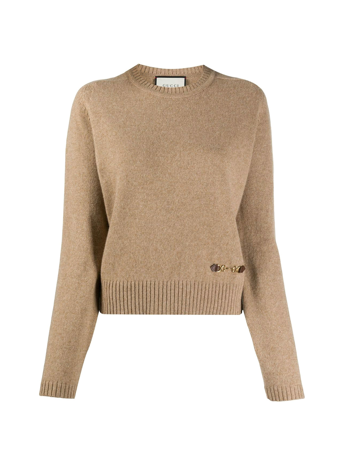 Horsebit crew neck jumper