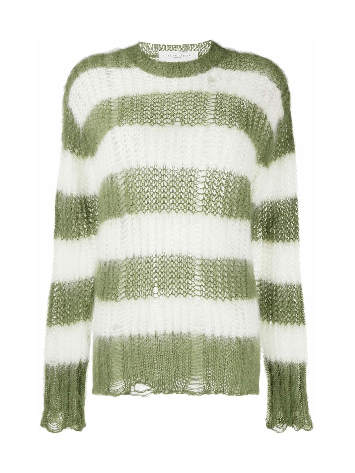 knitted striped jumper
