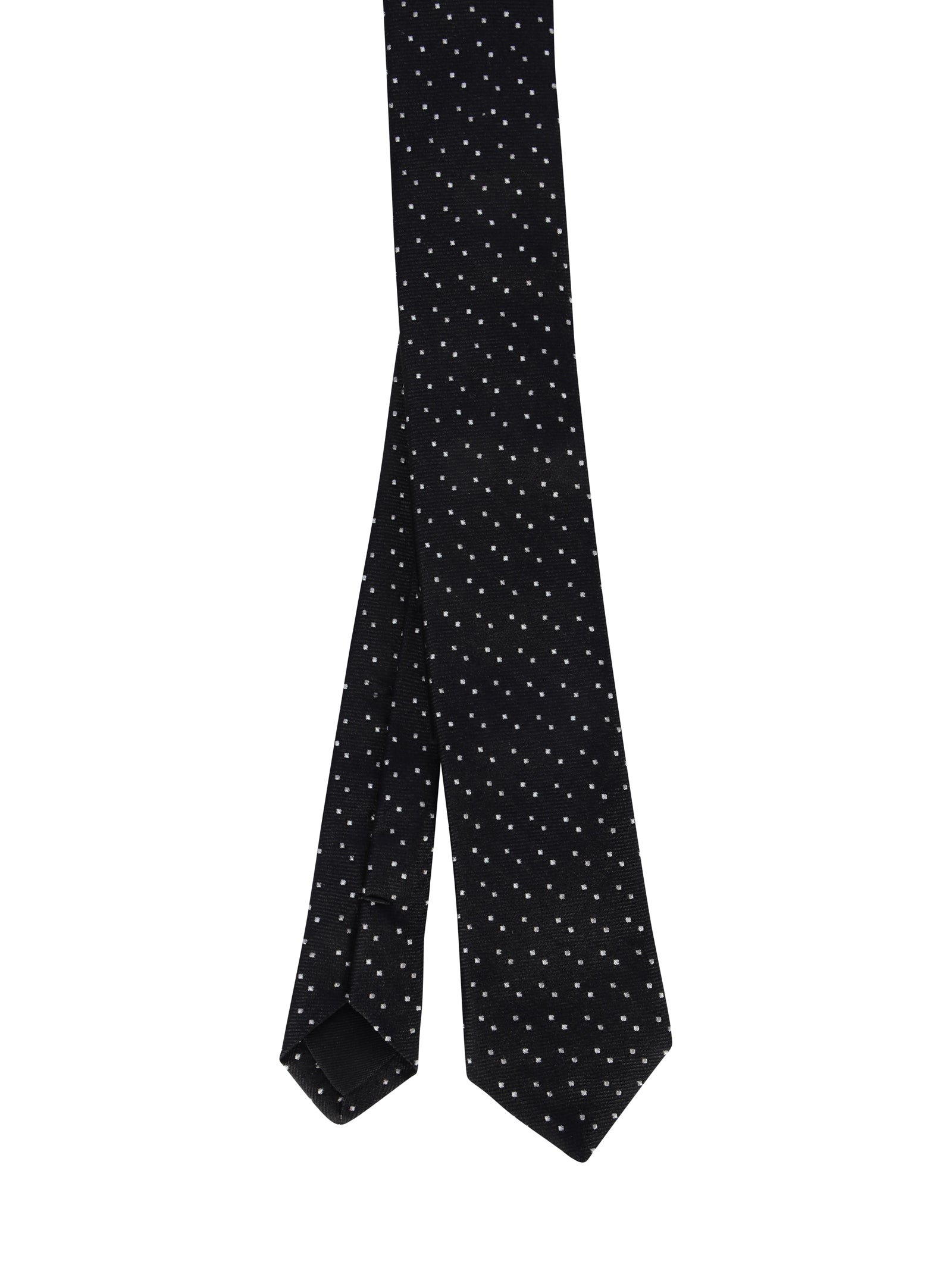 silk square-pattern tie