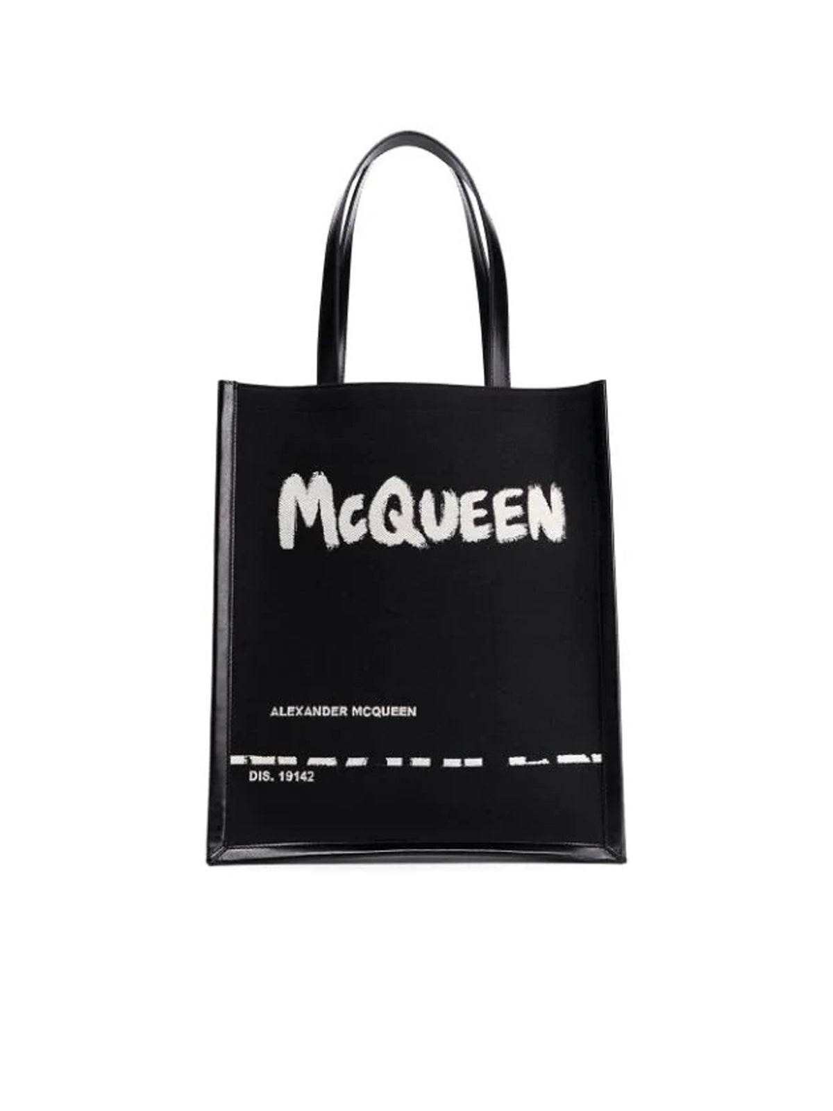 painterly logo print tote