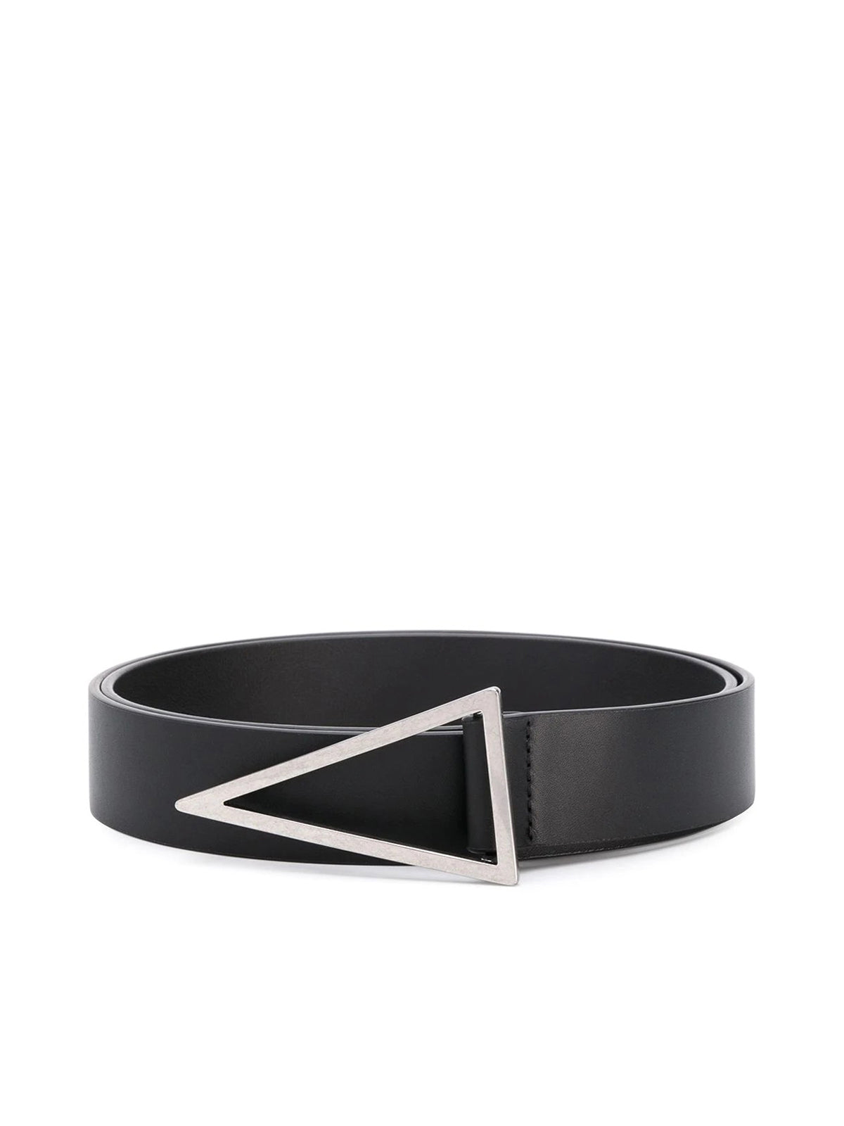 triangular buckle leather belt