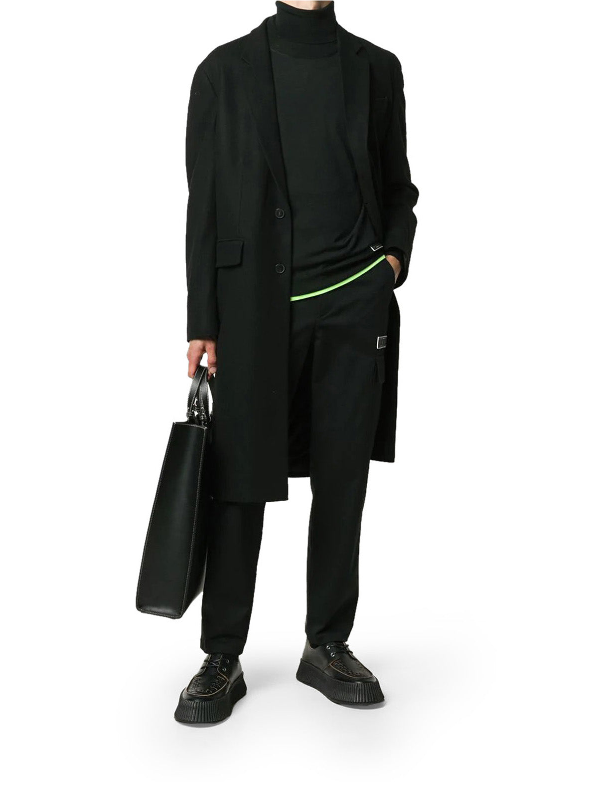 VLTN logo-patch straight-leg trousers