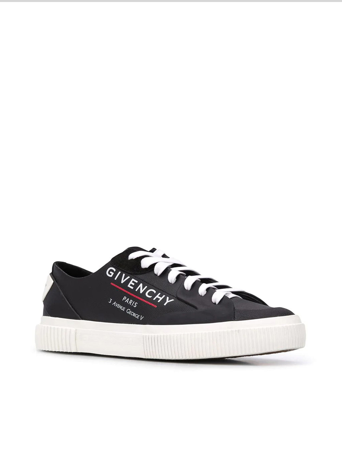side logo print sneakers