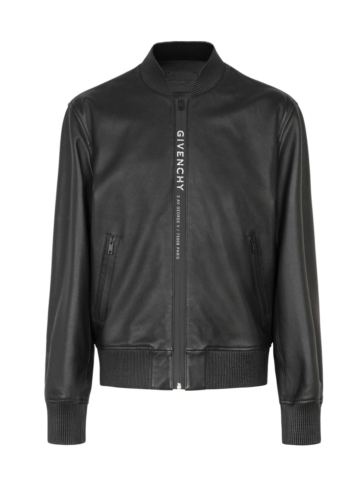 Address Webbing Leather Bomber