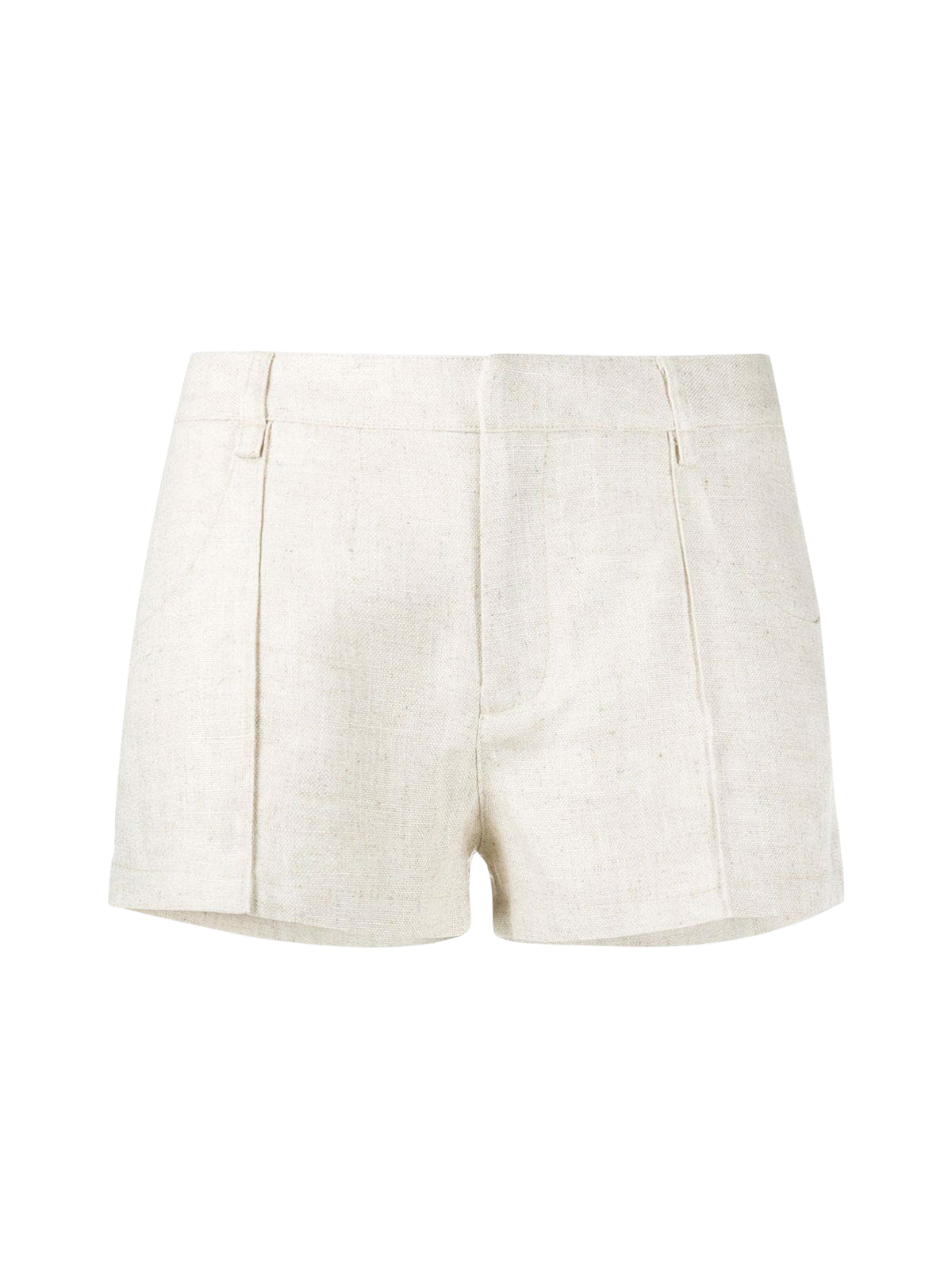 topstitched ridges mini shorts