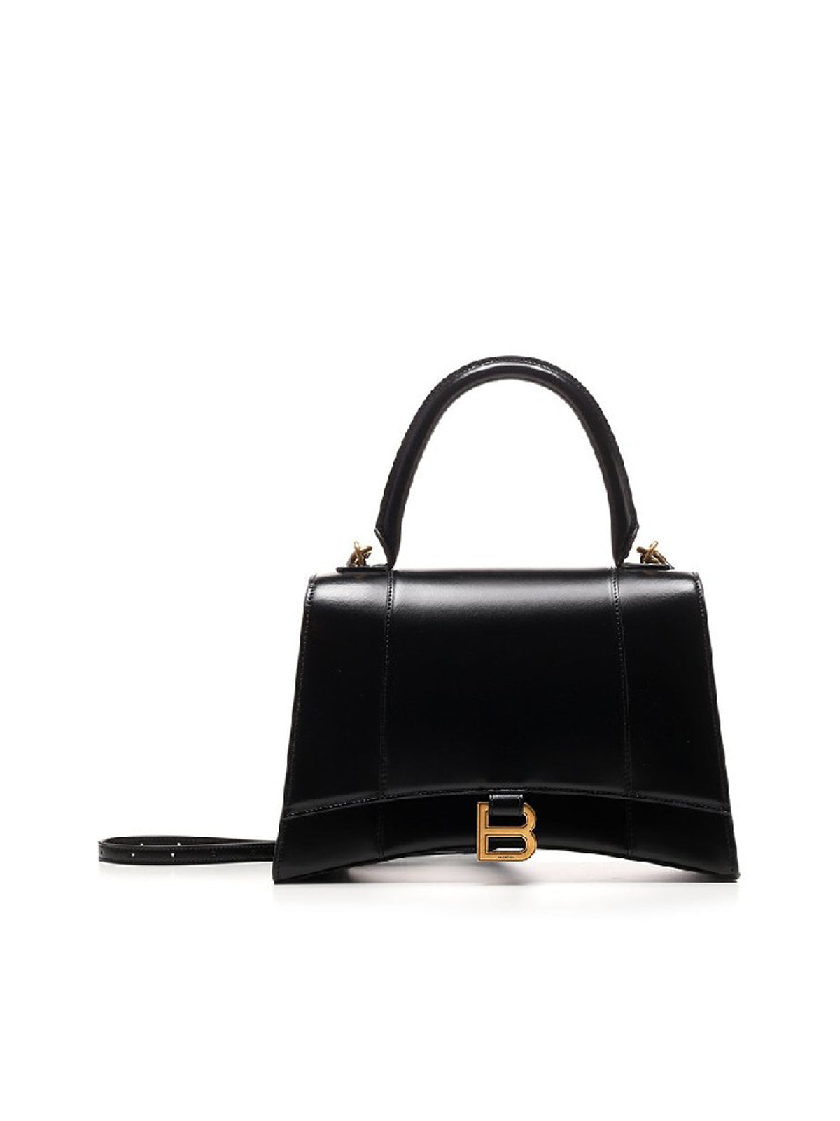 Balenciaga Hourglass Medium Top Handle Bag In Black
