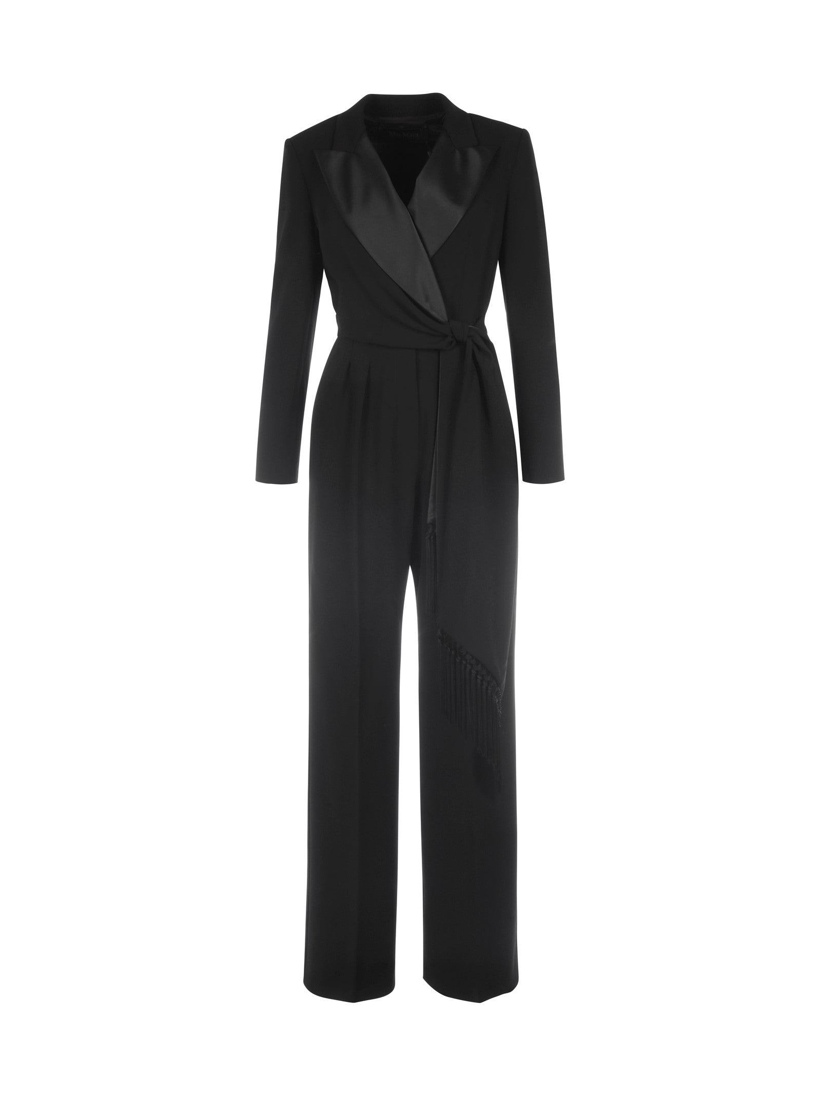 double-breasted jumpsuit with lapels