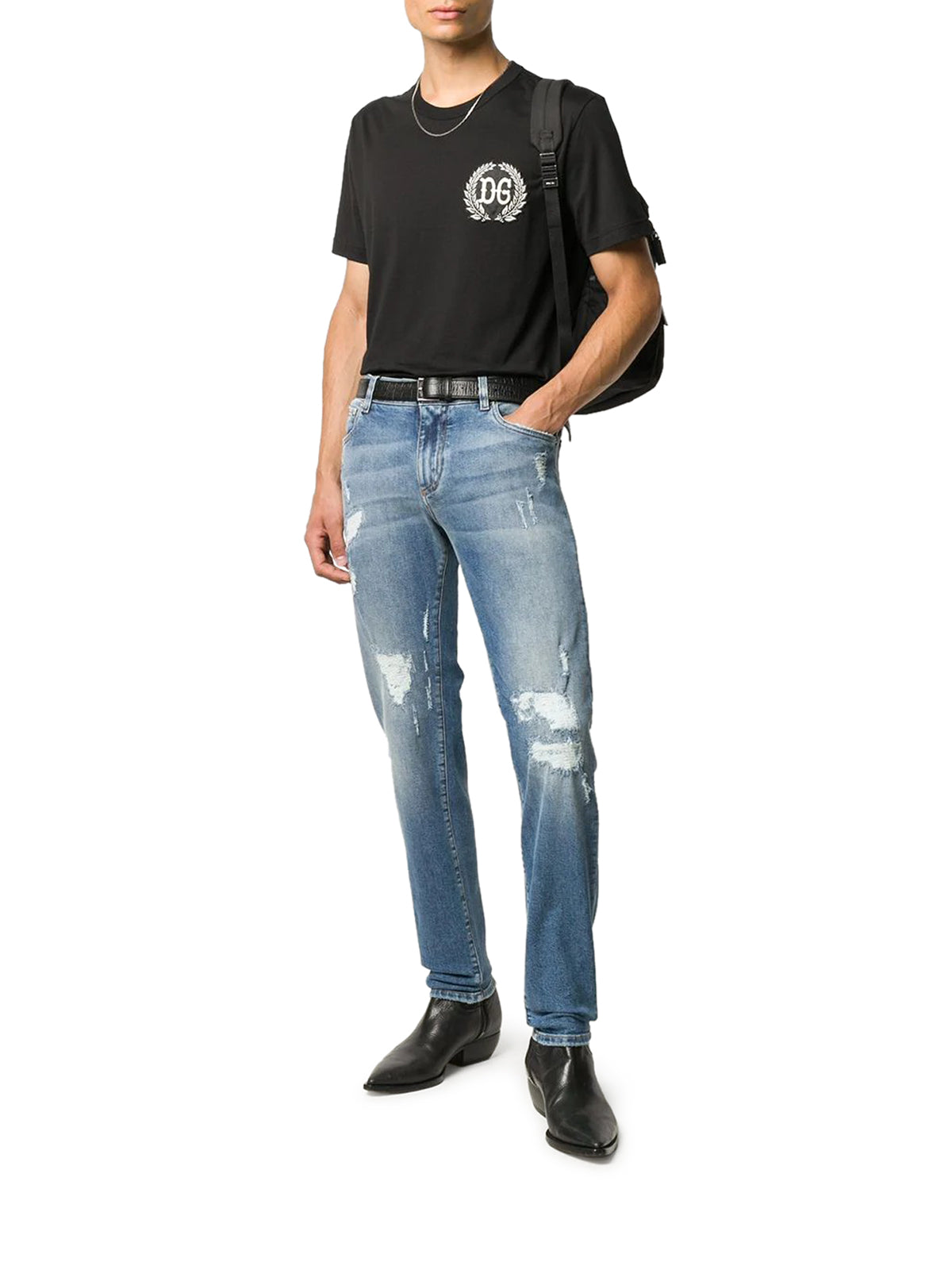 DG patch cotton T-shirt