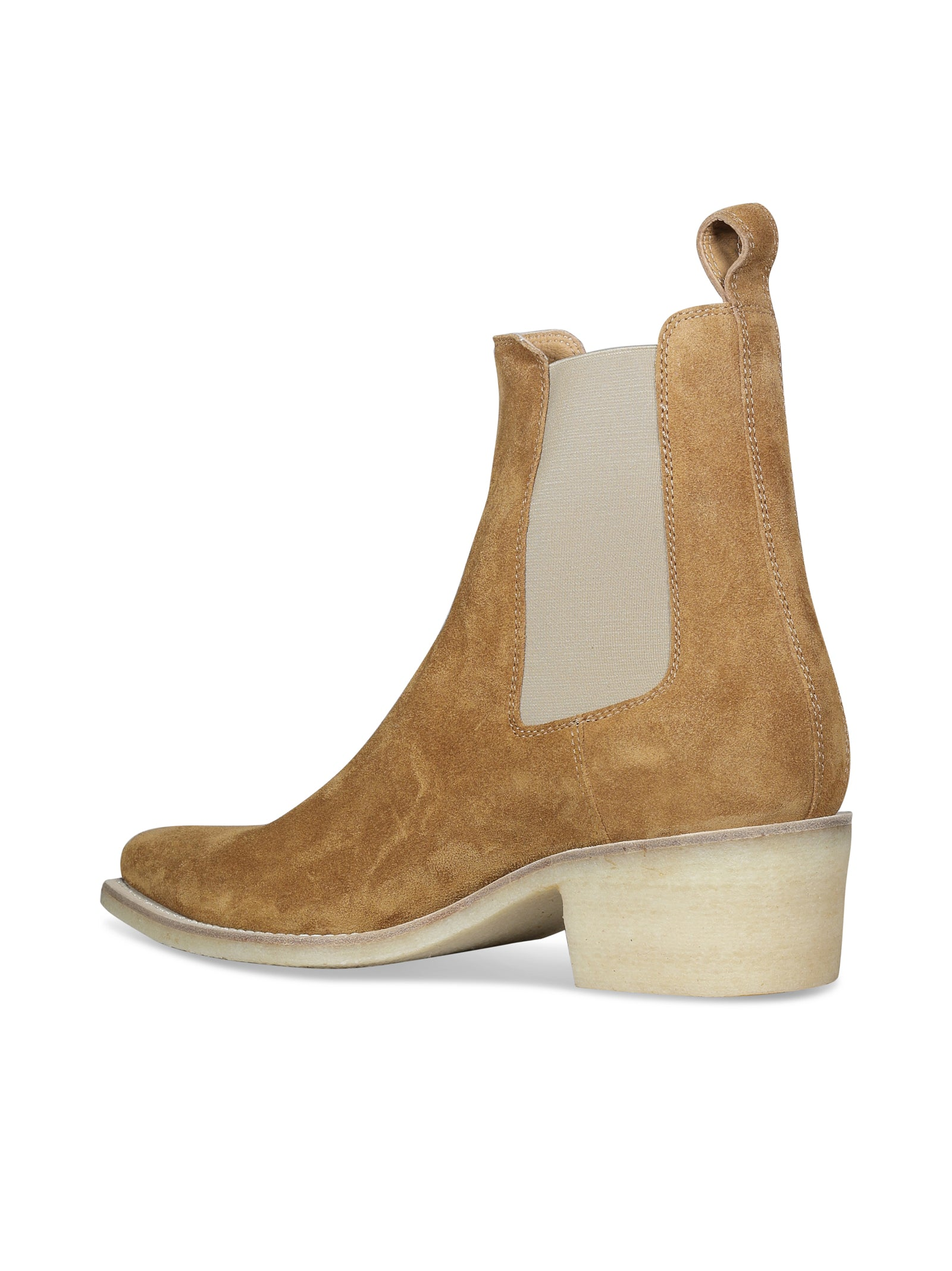 CHELSEA SUEDE CREPE ANKLE BOOTS