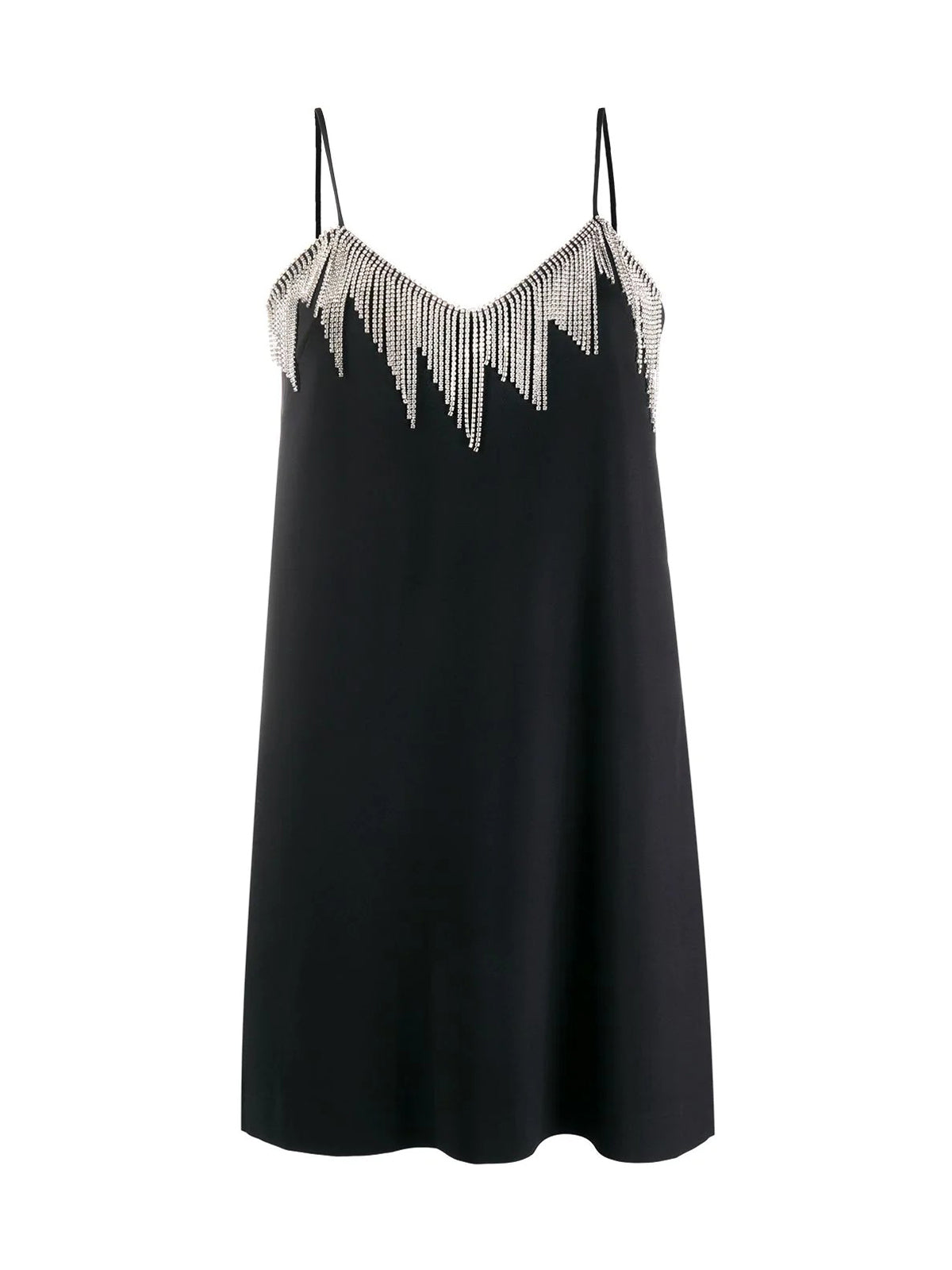 crystal chain-trim dress