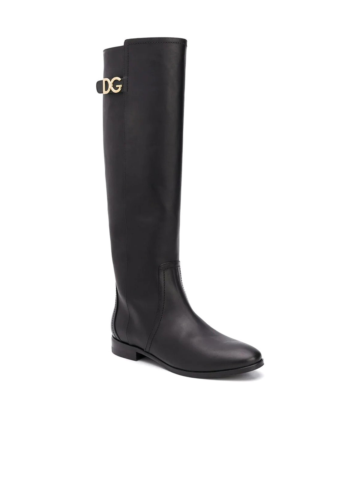 knee-length logo plaque boots