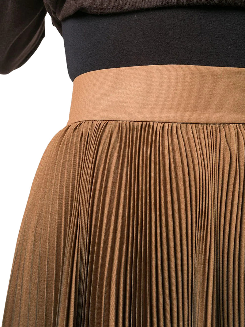 ombré pleated midi skirt
