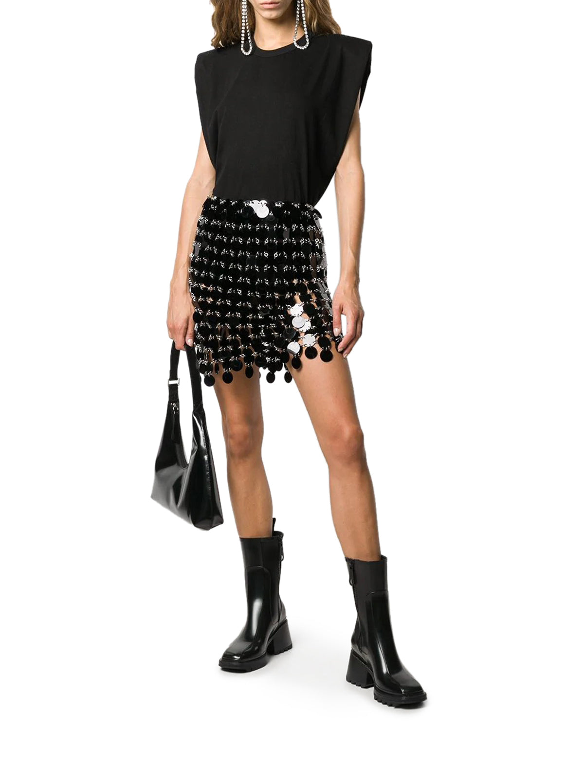 Miniskirt with sequins