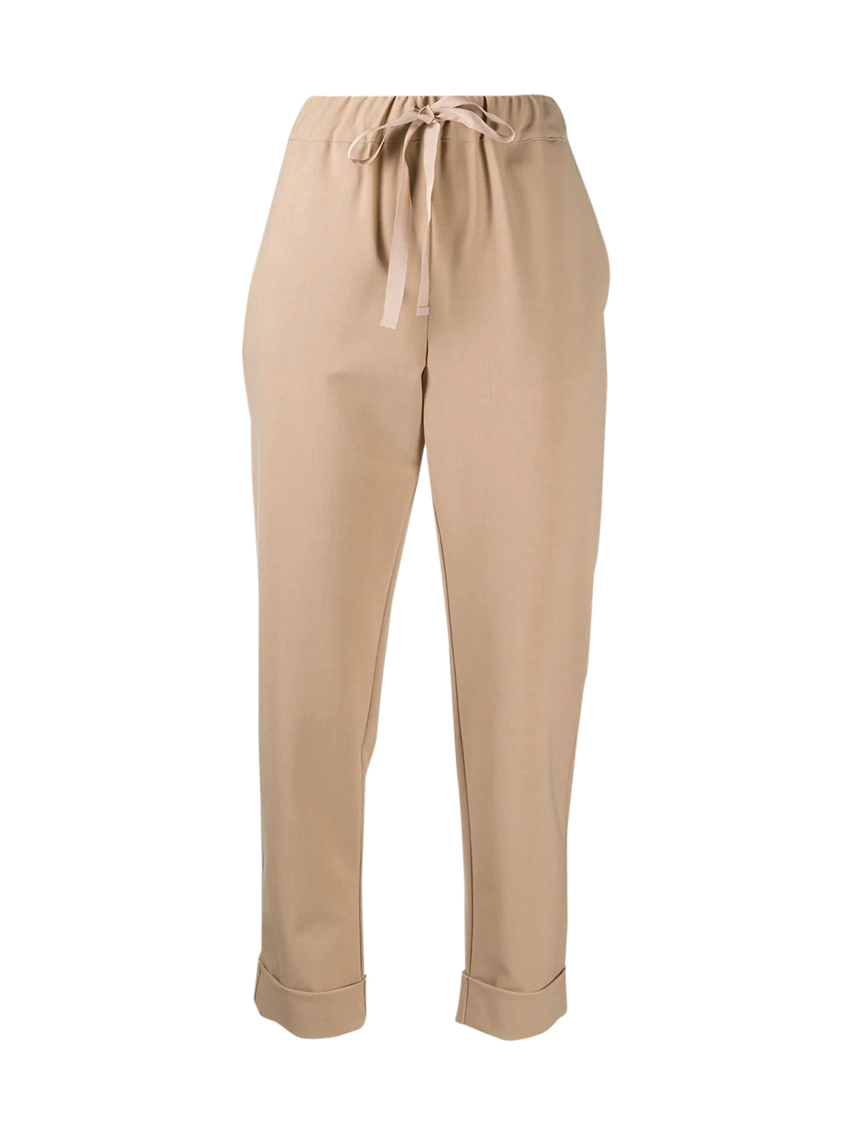 drawstring cropped leg trousers