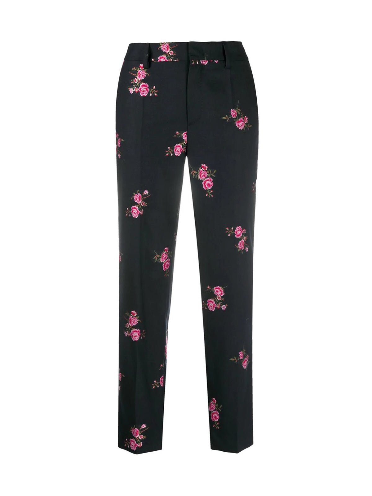 flower jacquard tailored trousers