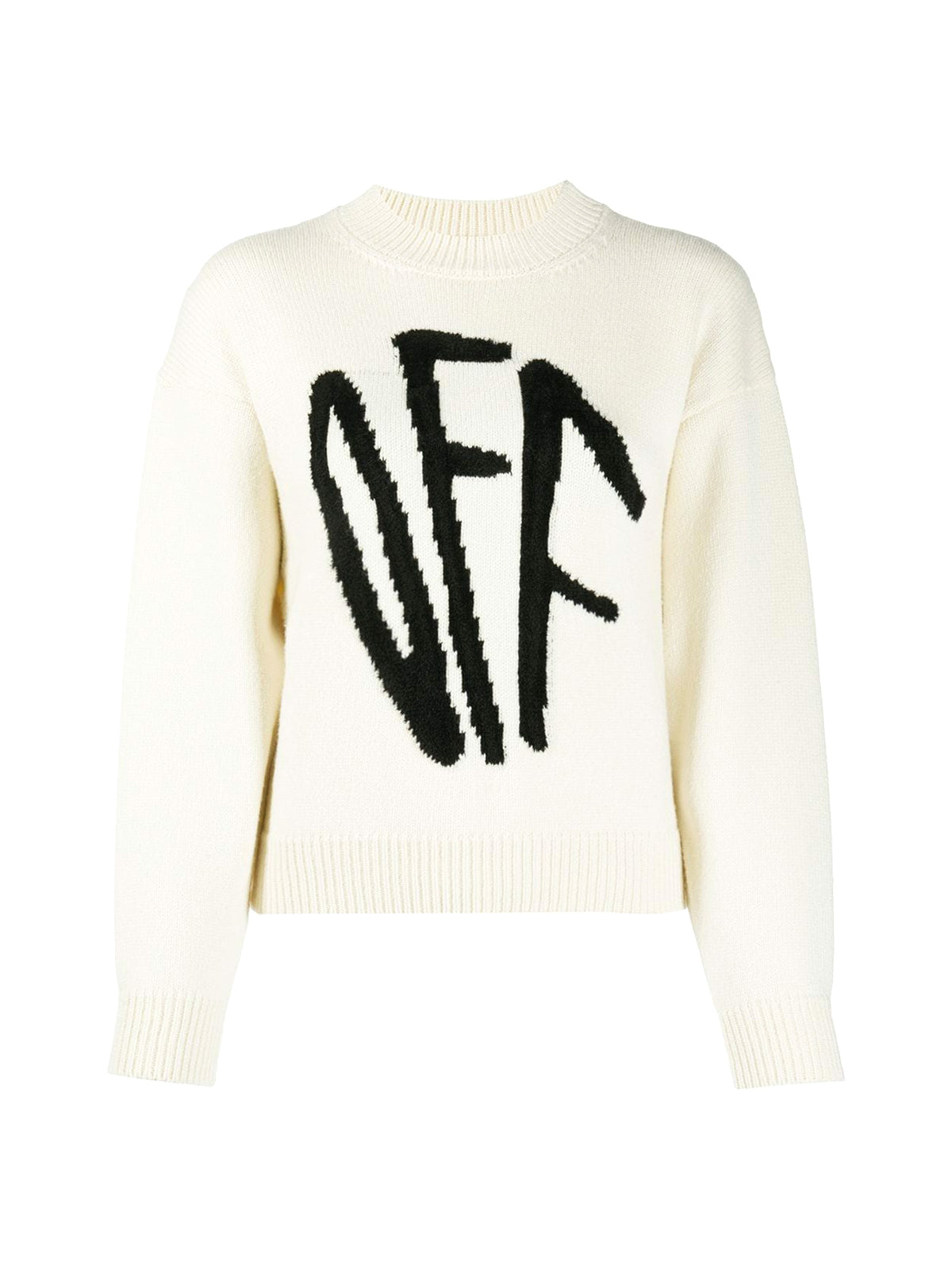 Graffiti crew-neck jumper