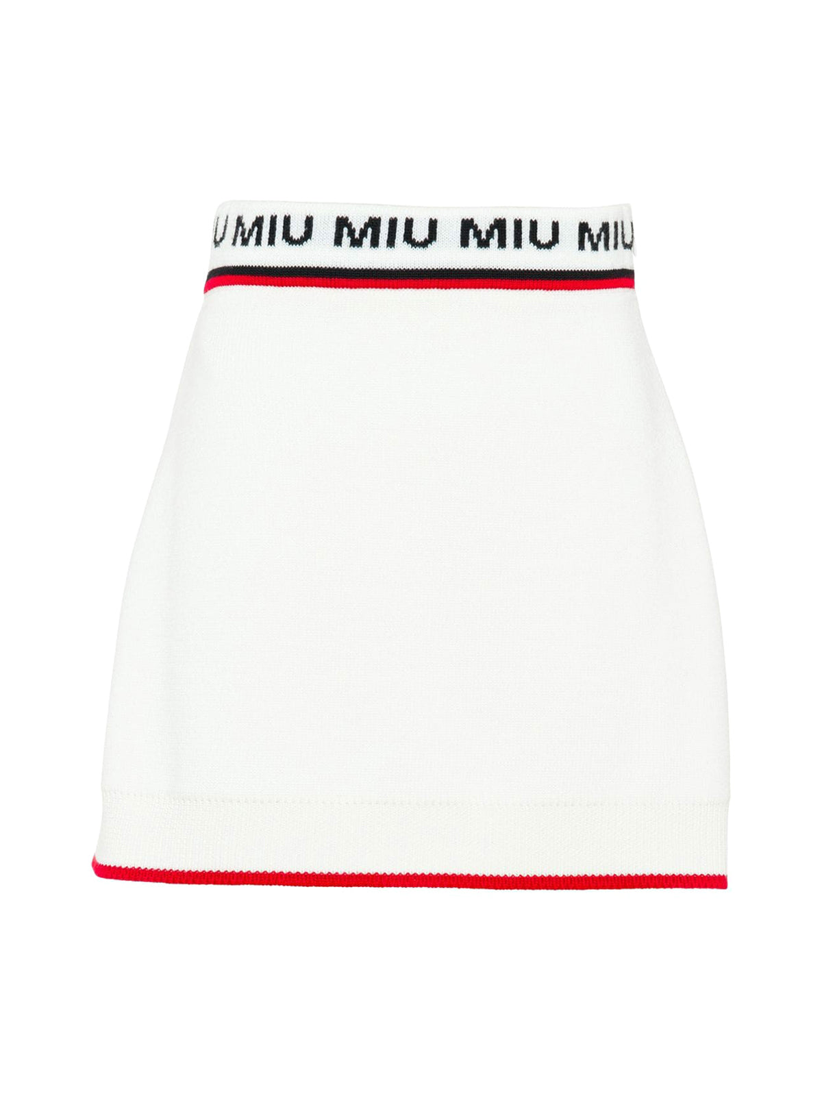 jacquard logo knitted skirt