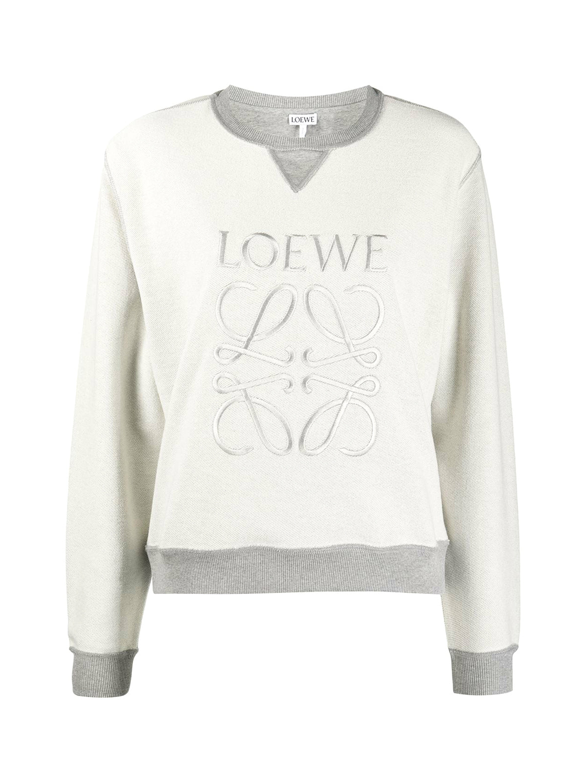 logo-embroidered inside-out sweatshirt