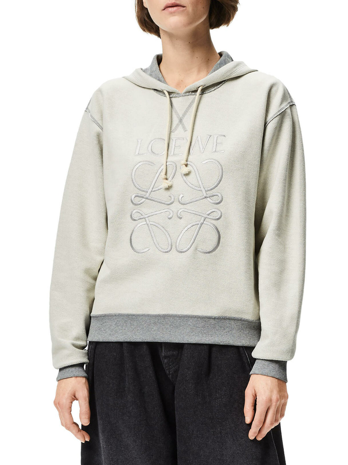 anagram embroidered hoodie