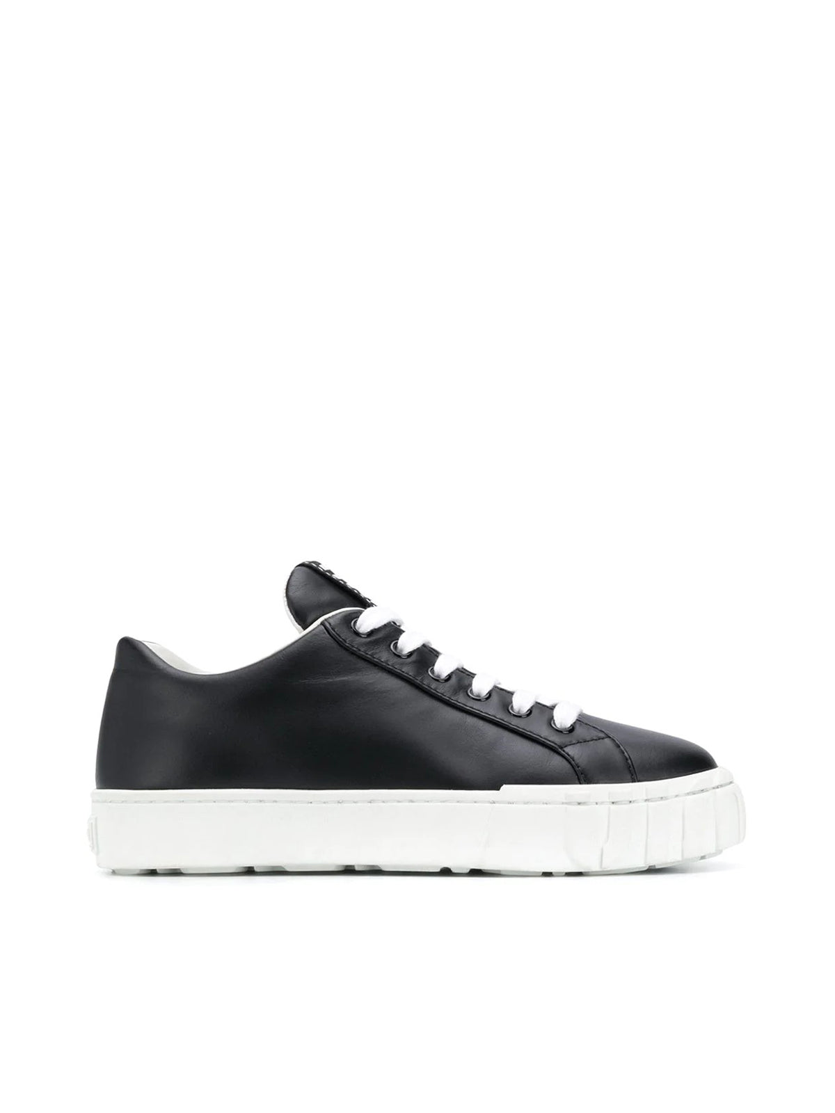 Miu Miu LACE-UP LEATHER SNEAKERS