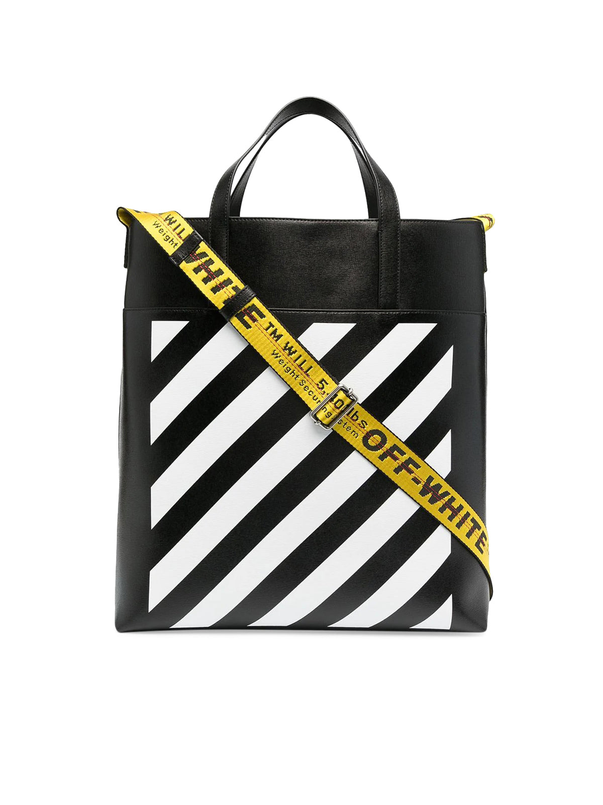 logo-tape detail tote bag