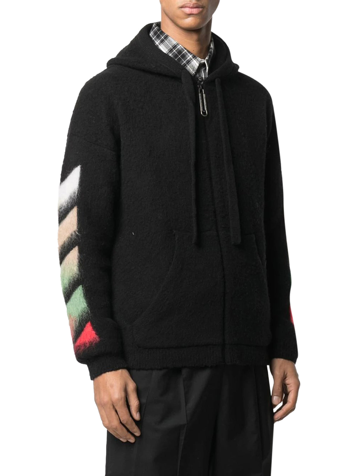gradient Arrows brushed hoodie
