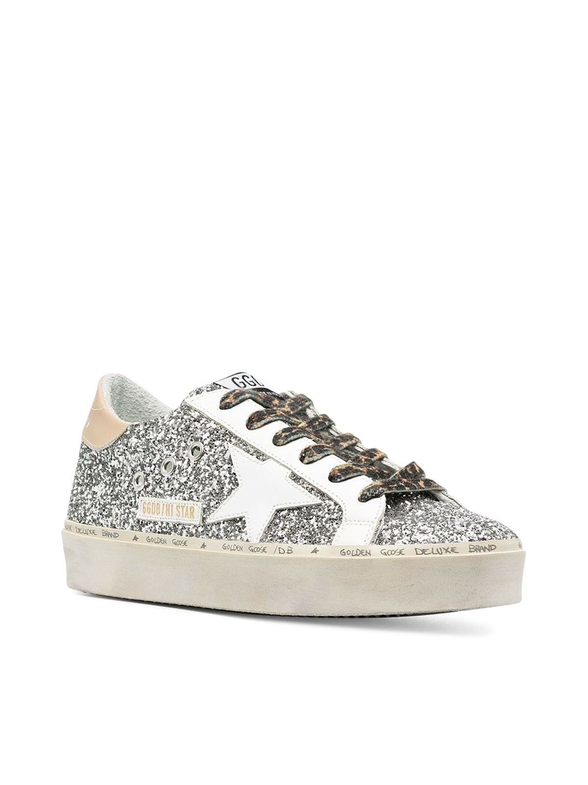 HI STAR GLITTER UPPER LEATHER STAR AND HEEL
