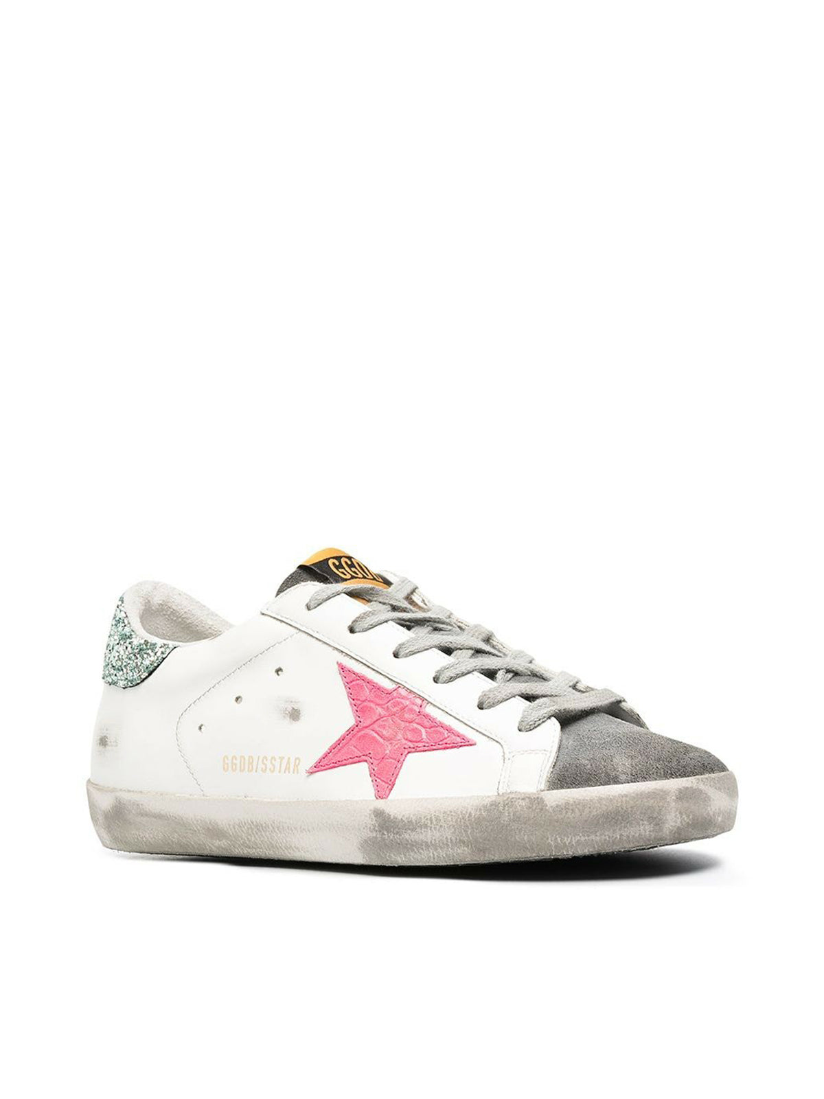 SUPER-STAR LEATHER UPPER COCCO PRINT STAR GLITTER HEEL
