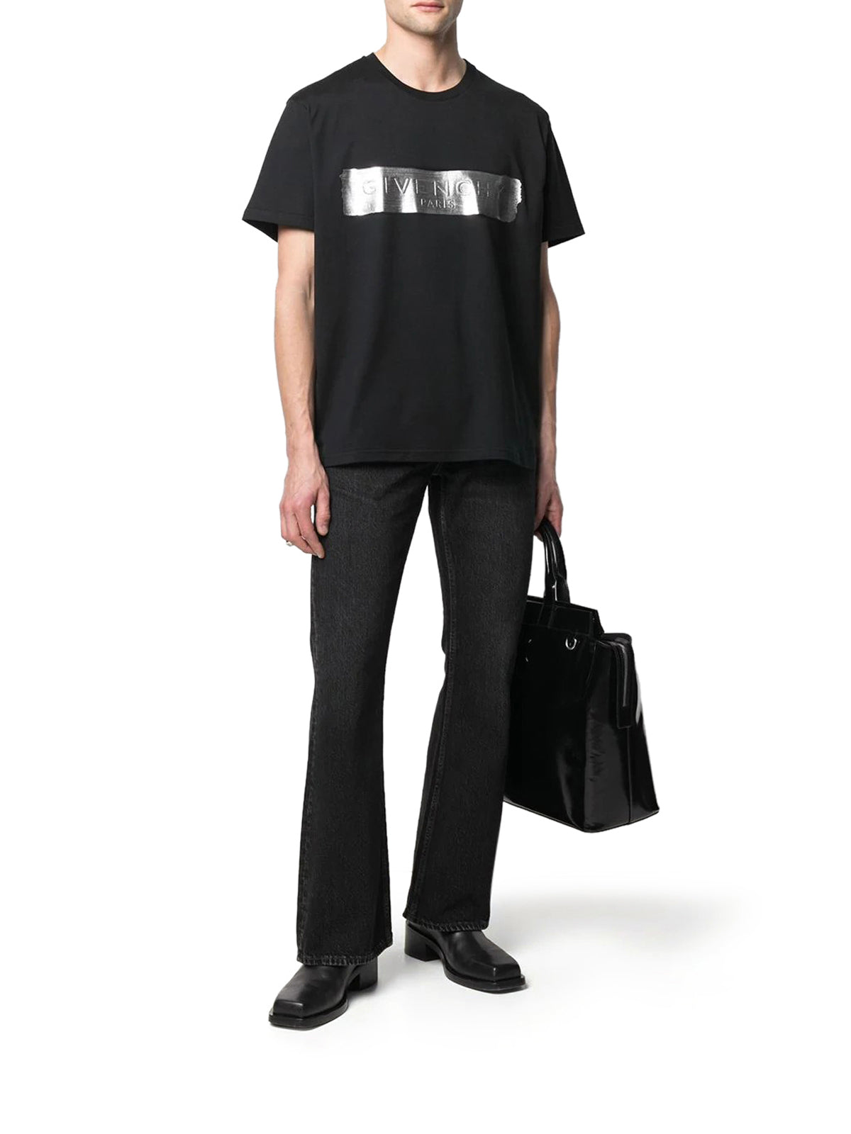 GIVENCHY LOGO-PRINT SHORT-SLEEVE T-SHIRT
