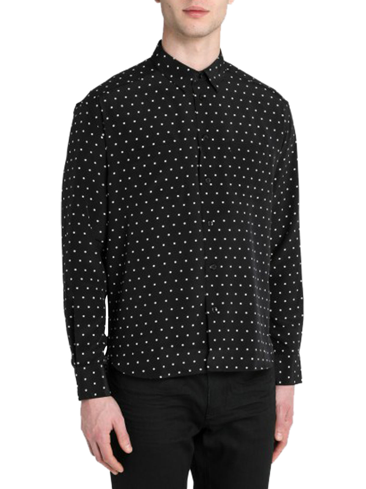 Black/white polka dot shirt