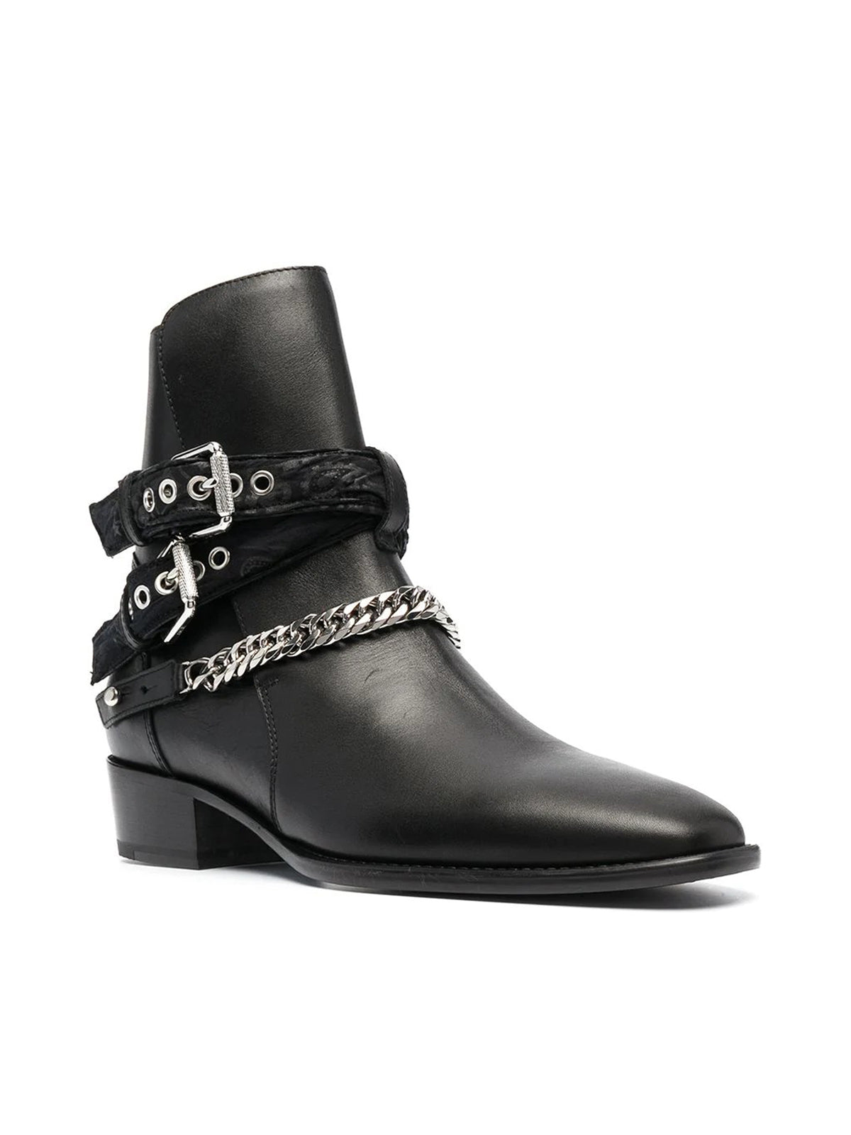 chain detail boots