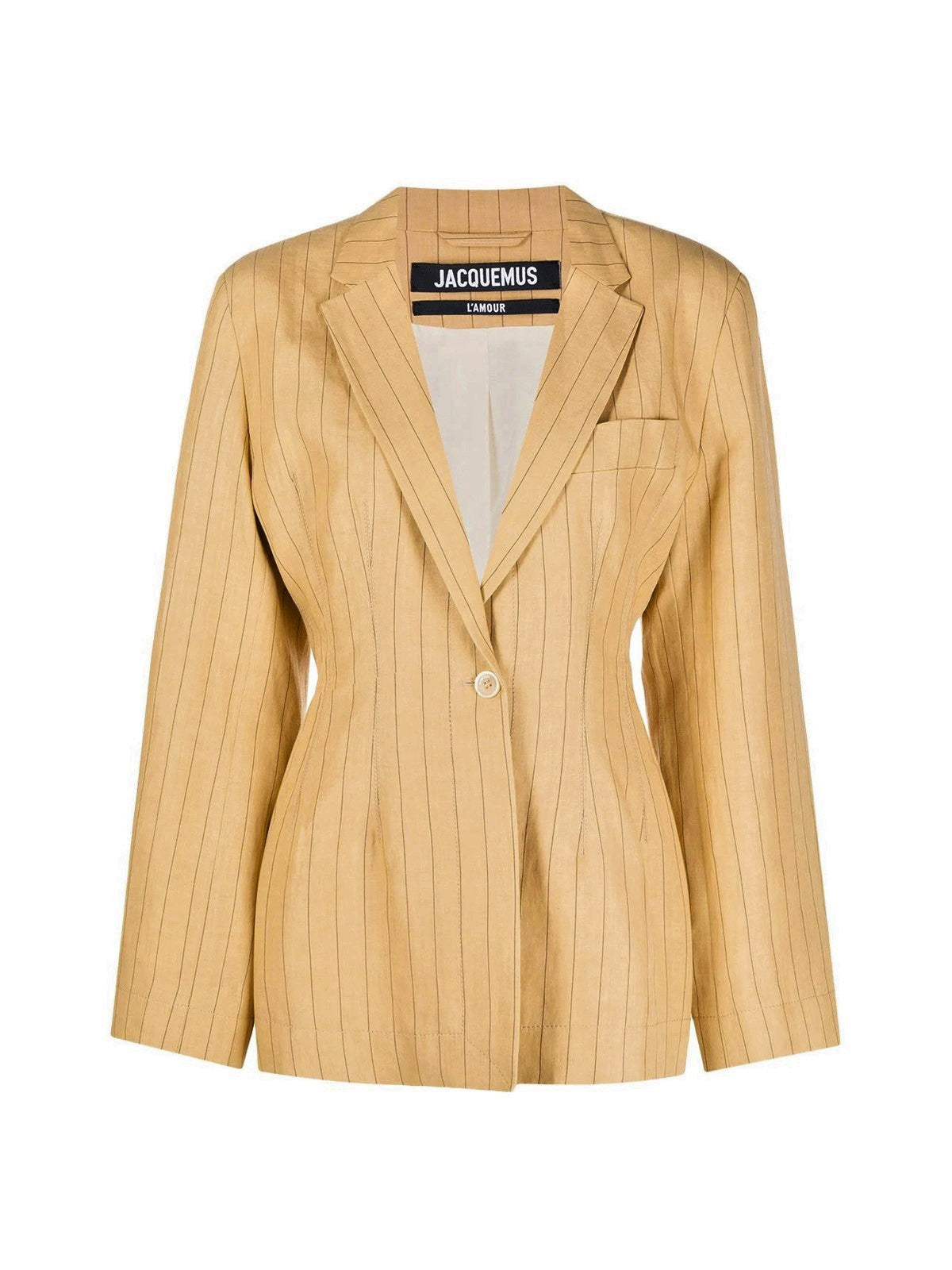 single-breasted jacket with stripes
