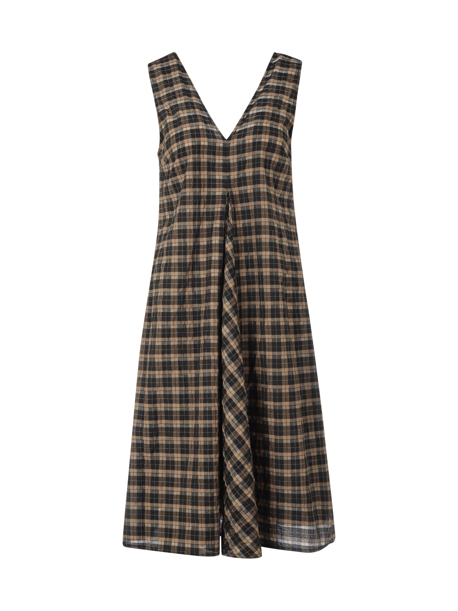 SEERSUCKER CHECK DRESS