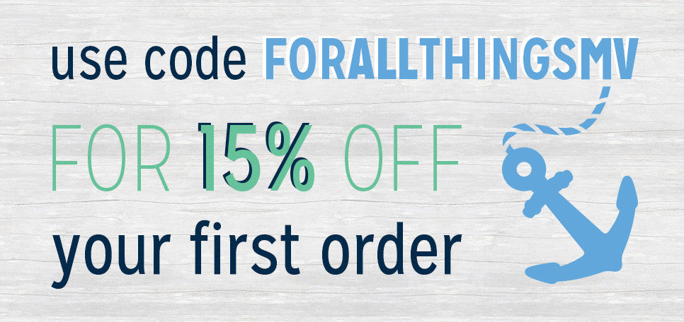 Use code FORALLTHINGSMV for 15% off your first purchase