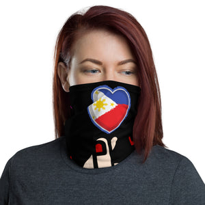 Made in USA/ Sana Ol Neck Gaiter/ Heart neck gaiter/ Bandana/ Philippine flag Face mask/ Face covering/ Face mask/ Womens mask/ Heart pinoy