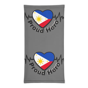 Proud hero Neck Gaiter made in USA/ Philippine flag heart neck gaiter/ Proud pinoy face covering/ Breathable face mask/washable face mask