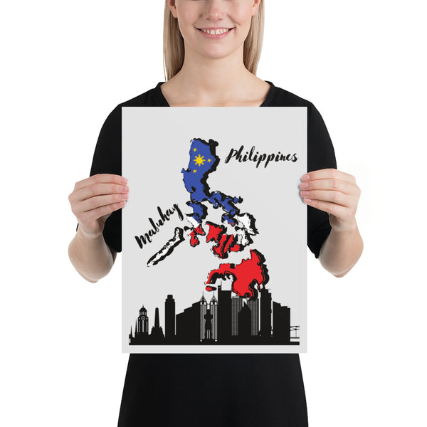 Poster 12x16 Filipino flag/ Filipino map poster/ Philippine home decor/ Living room poster/ Bedroom wall art/ Office poster Philippine map