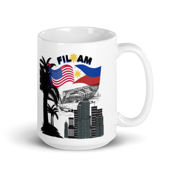 Philippine American Flag/  flag Mug/ Mug for proud Filipino/ Pinoy mugs/ Philippine souvenir/ Pinoy gift Idea/ Mug for him/ Fil-am mug