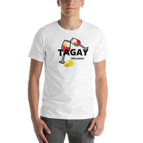 Philippine t-shirt/ Tagay meaning Cheers / Cheers t-shirt/  Short-Sleeve Unisex T-Shirt/ White t-shirt/ Gray t-shirt/ Custom t-shirt