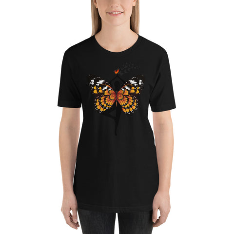 Butterfly Short-Sleeve Unisex T-Shirt/ Monarch buttterfly tshirt/  Butterfly fantasy tshirt/ Yoga butterfly tshirt/ white butterfly tshirt