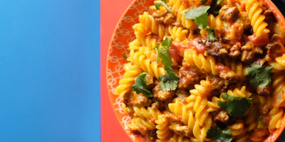Cheesy Taco Pasta with Ground Beef
