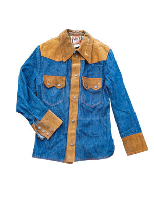 Denim Suede Shirt