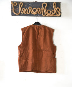 Work vest 4 pocket canvas fabric