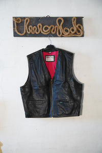 Leather Motorcycle vest size L