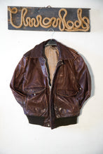 Load image into Gallery viewer, Vintage American Jackets A2 Flight Airforce Pilot Aviator Bomber Jacket  size L