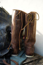 Load image into Gallery viewer, Nautical Boot leather  deadstok size 10