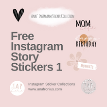 Load image into Gallery viewer, Free Instagram Story Stickers Pack 1